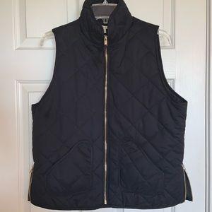 Francesca's | Black Puffer Vest | L
